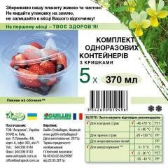 Набор контейнеров для салата, десерта 370 мл с