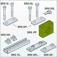 Brackets, collars, clips for fastening of pipes