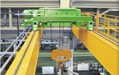 The two-frame bridge crane – loading capacity is