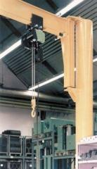 Console turning crane with center column