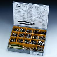 Комплекты хомутов в практичной пластмассовой коробке