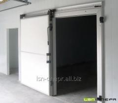 Двери холодильные раздвижные промышленные