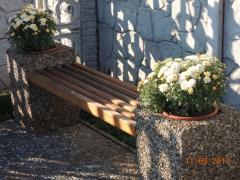 Скамейка с цветочниками,фактура 011,из