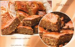 Baklava honey with nuts
