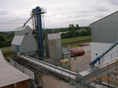 Complex for cleaning, drying and storage of grain