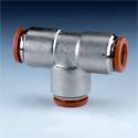 Соединения для пластмассовых, полиамидных, полиэтиленовых труб. Прямые, угловые т-образные.