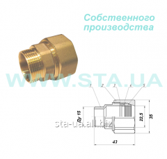 Couplings brass Gebo's analog with an