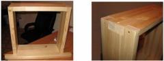 Blocks window wooden