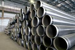 Pipes are steel water pipeline, steel water
