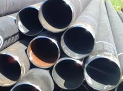 Pipes are steel straight-line-seam electrowelded,