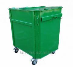 The EKP-1,0 trash bin under the eurogarbage truck