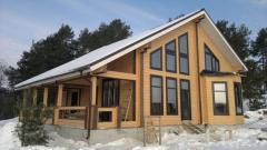Design of wooden houses, restaurants, baths,
