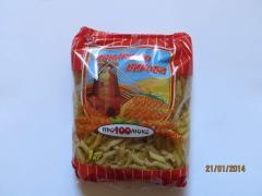Macaroni: feather. Packaging: kg polypropylene 1,