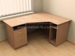 Стол угловой с ящиками (П 646)