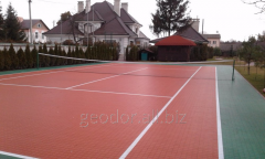 Covering for a tennis court of GEODOR - modular.