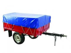 Car trailer also pass a tractor