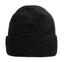 The cap is knitted