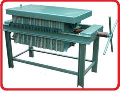 Filter press frame for vegetable oil. Line of a
