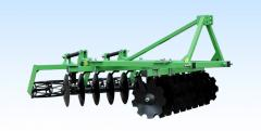 Hinged disk harrows the 2nd section