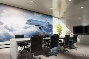 Photowall-paper ecological in office! AKTION from