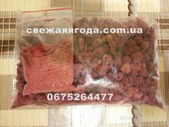 Dried berry of raspberry