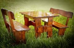Furniture wooden for restaurant, cafe, giving, a