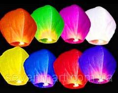 Небесные китайские летающие фонарики желаний,