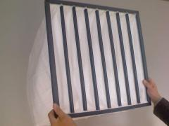 Filters pocket on forced ventilation a class