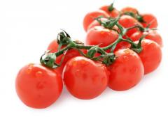 The cherry tomatoes frozen