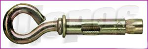 Anchor bolt with a ring for suspension of fixed