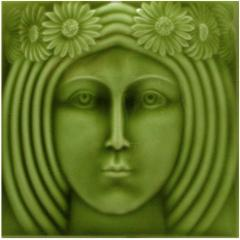 Golem the Decorative ceramic tile - Art Nouveau.