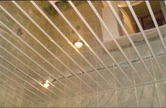 Потолки реечные алюминиевые подвесные