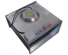 Оборудование прямоугольных каналов  Вентиляторы  Вентиляторы с лопатками загнутыми вперед серии SVF Aerostar  Канальный вентилятор серии SVF 90-50/45-6D Aerostar