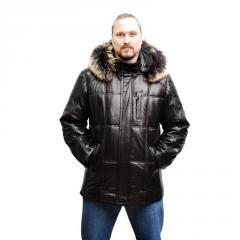 Пуховик мужской кожаный, продажа, консультация