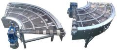 The conveyor (conveyor) rotary mesh with the width