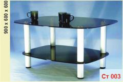 Coffee tables from glass