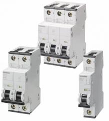 Модульные автоматические выключатели Siemens 5SY