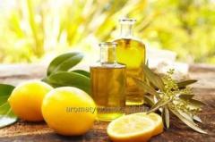 Lemon essential oil of a lemon