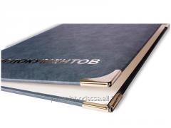 Production of folders. Folders leather, to kozhza.