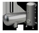 Dehumidifier of compressed air, receiver air (air