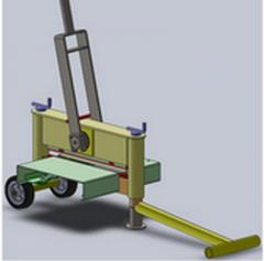 The machine for splitting of stone and paving