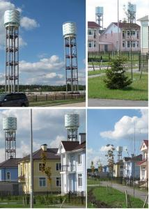 Water towers on 300m.kub.
