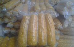 The frozen sweet corn