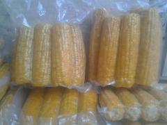 The corn is sweet, fresh-frozen corn