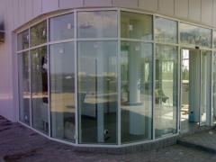 Фасад из стекла по индивидуальному заказу