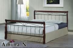 Кровать с буковыми ламелями Amina N 160х200