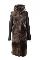 Sheepskin coats with hood female Vinnytsia