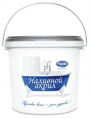 Bulk acryle Plastol for restoration of bathtubs