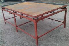 Vibrotables for paving slabs