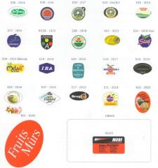 Labels, stickers, stickers for agricultural